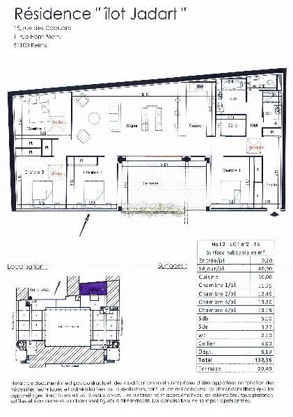 Erlon immobilier : plan appartement