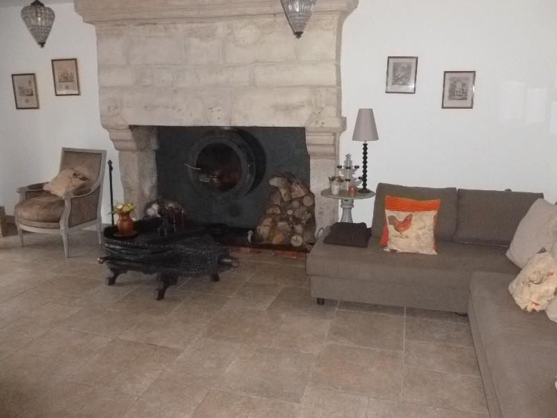 Erlon immobilier : Salon avec cheminée
